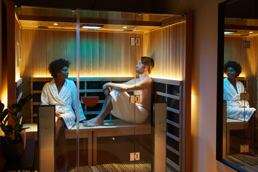 IR Infrared sauna cabin at Soak Urban Wellness Amsterdam